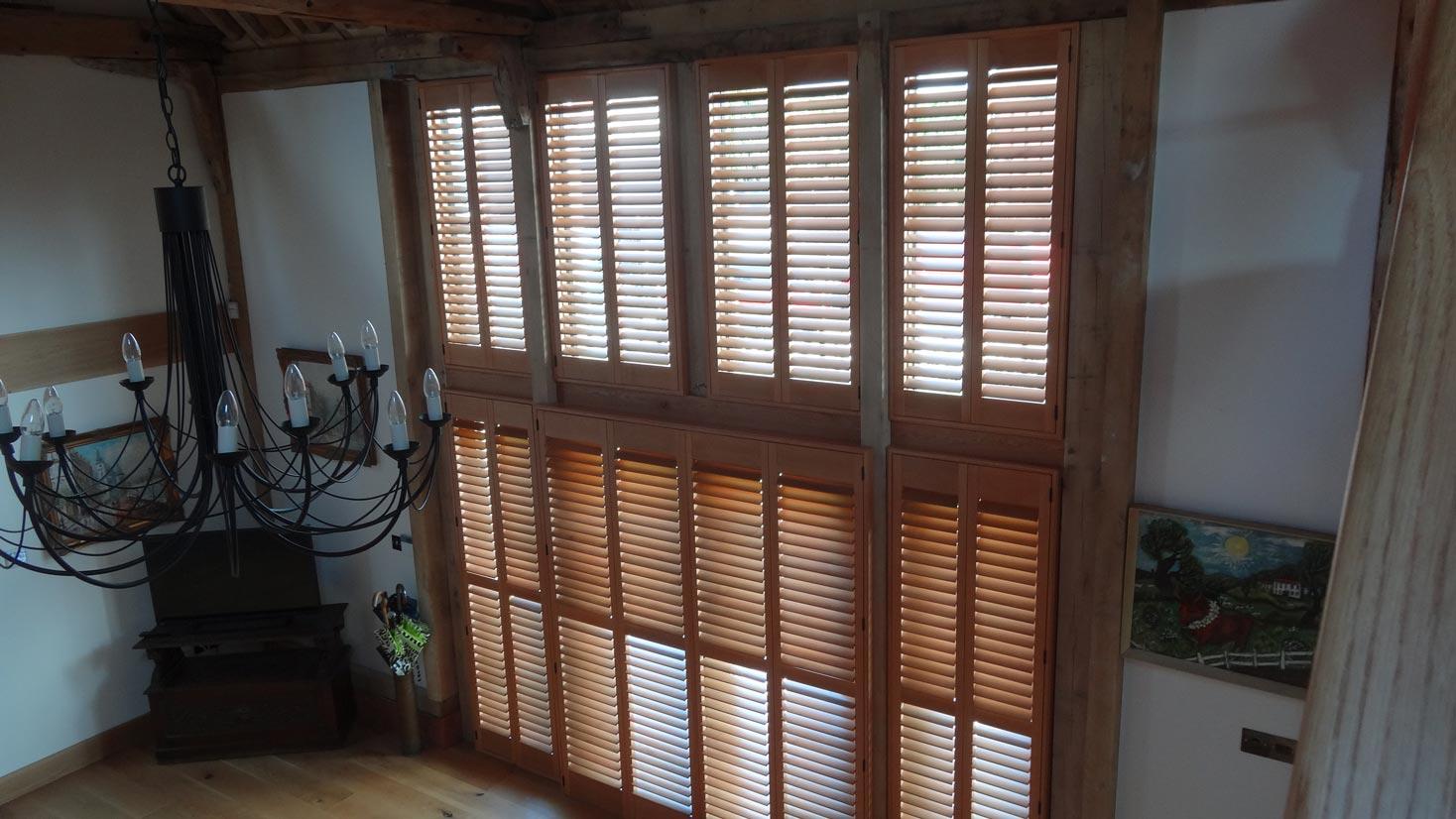 oak shutters
