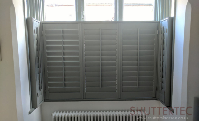 bespoke green coloured shutter