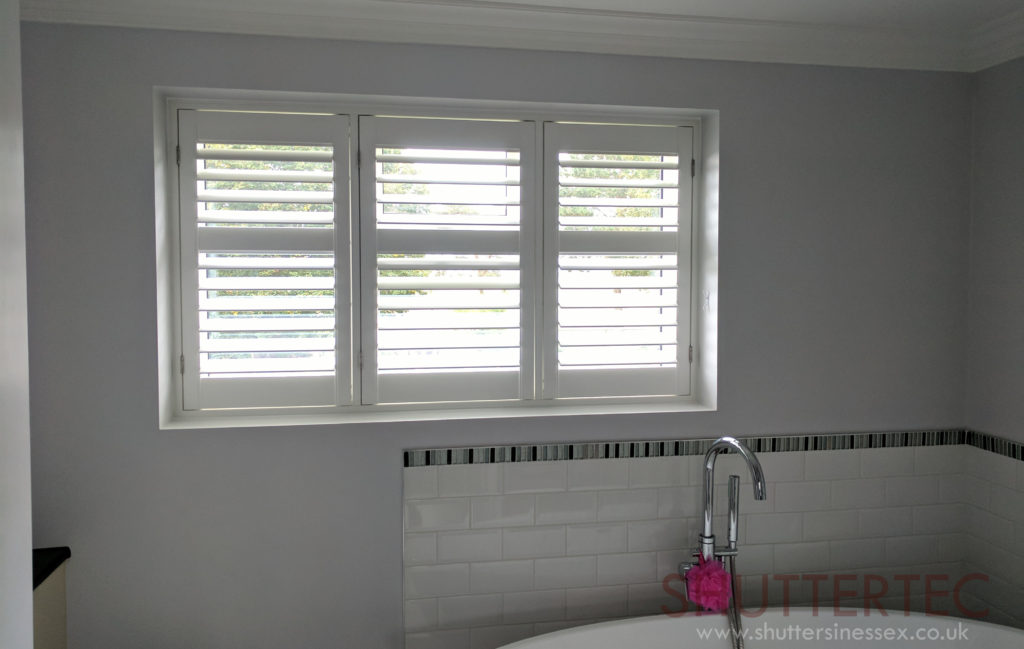 white shutters bathroom
