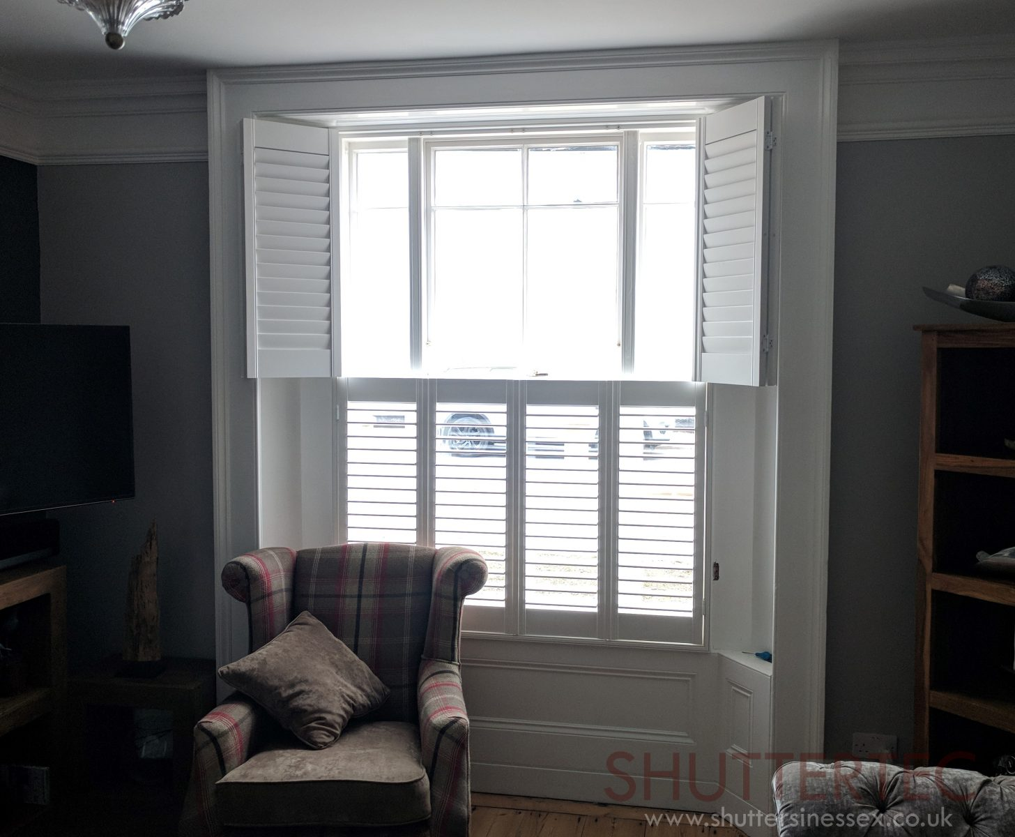 double panel shutters