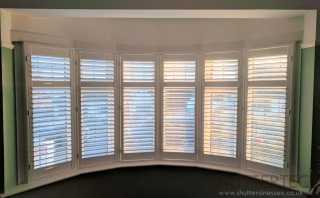 six sided bay window shutters