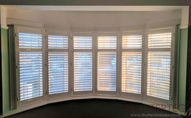 six sided bay window shutters
