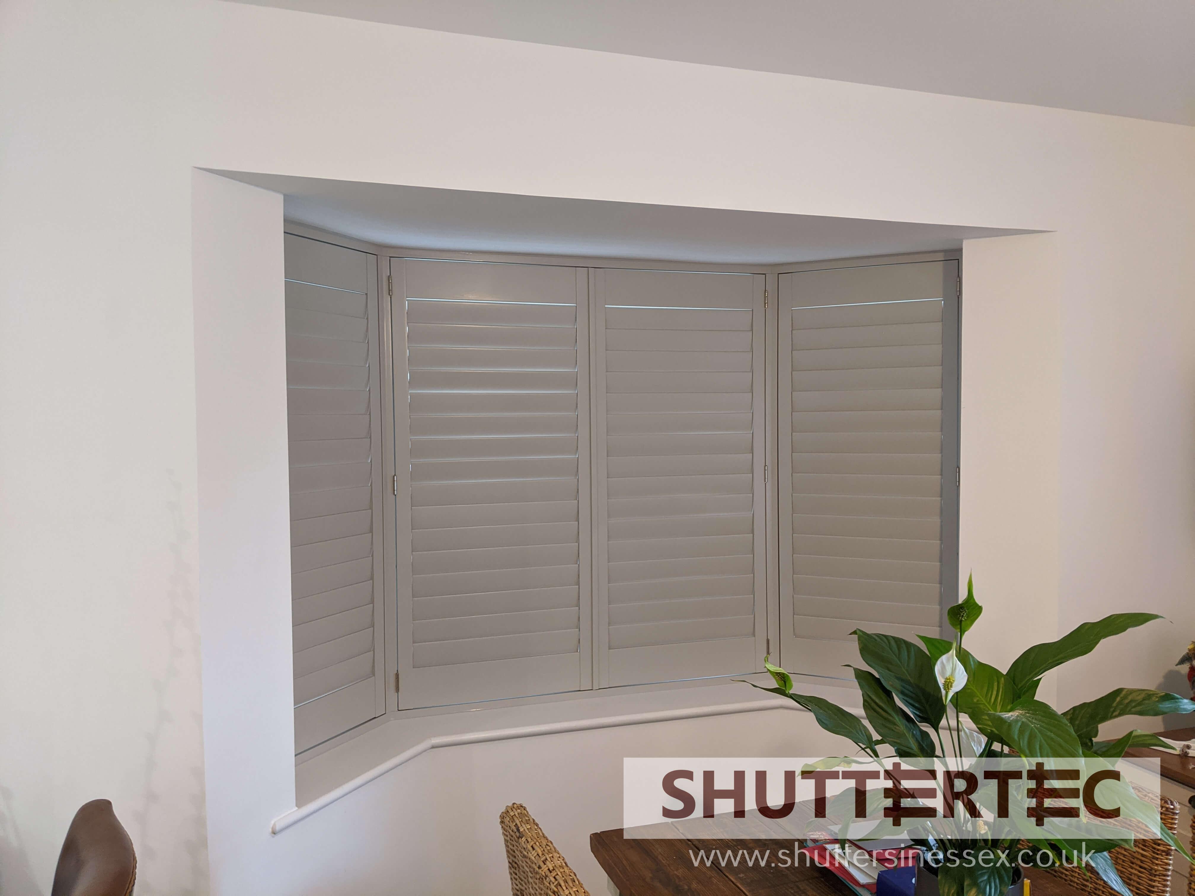 grey shutter blinds
