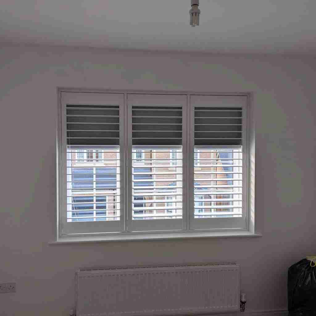blackout shutters with integrated blinds