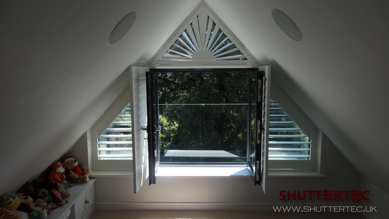 Image of ShutterTec shaped window shutters