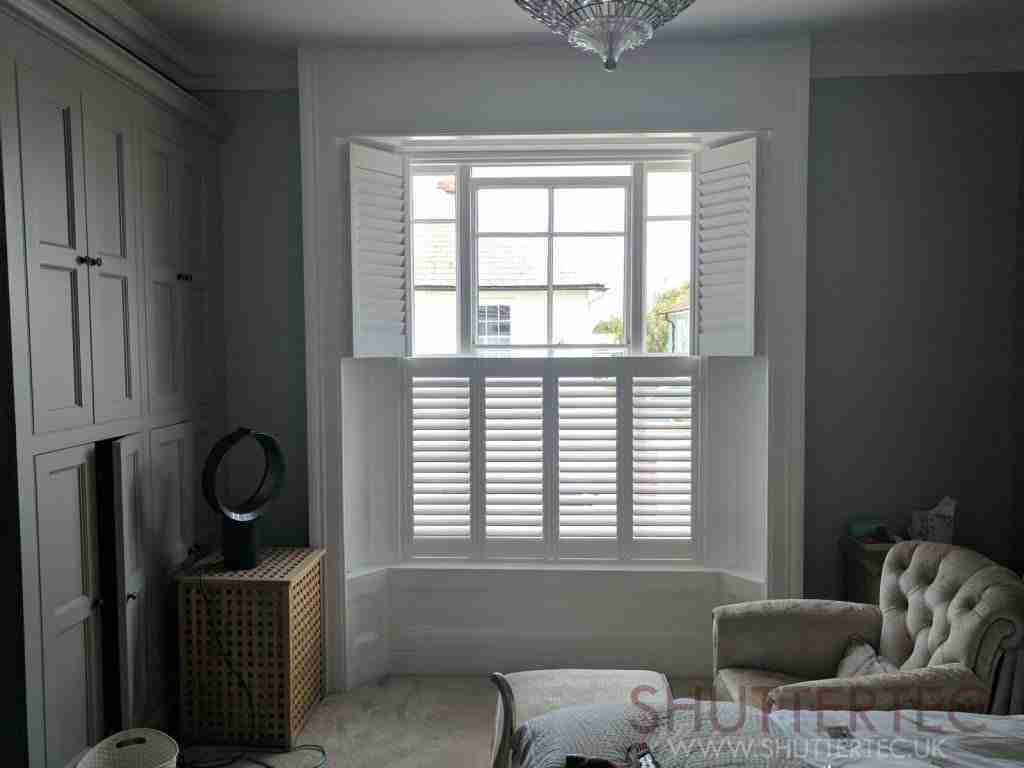 Tier on tier shutters with small slat sizes