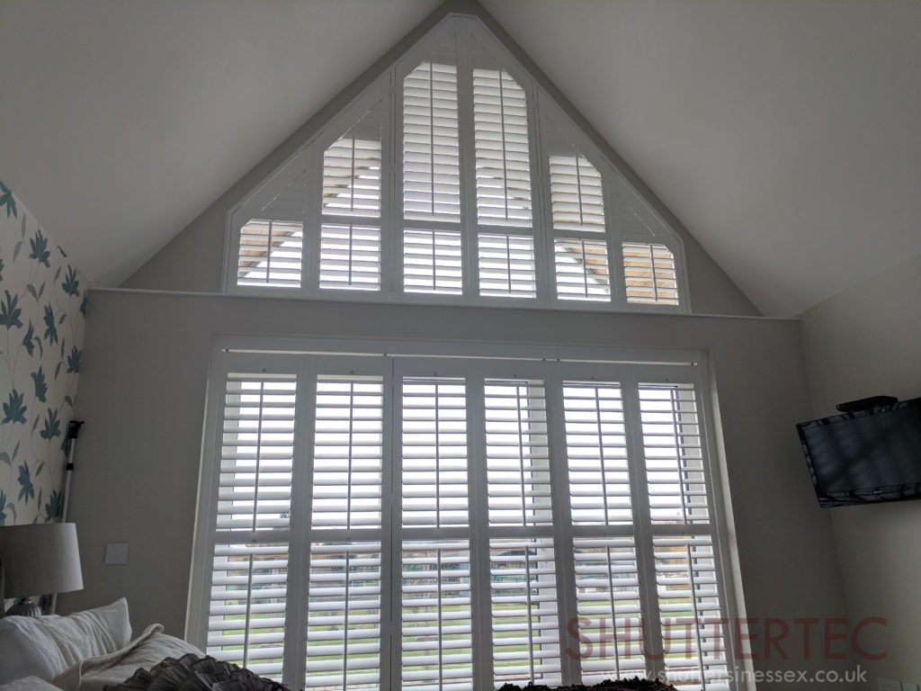 Shaped shutters in Essex home