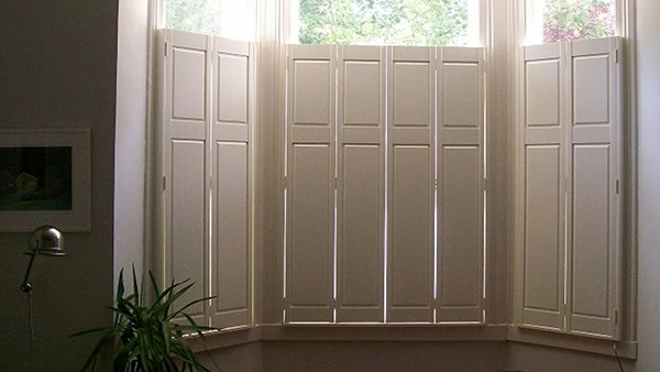 Solid panel shutters shuttertec - Unfinished wood shutters interior ...
