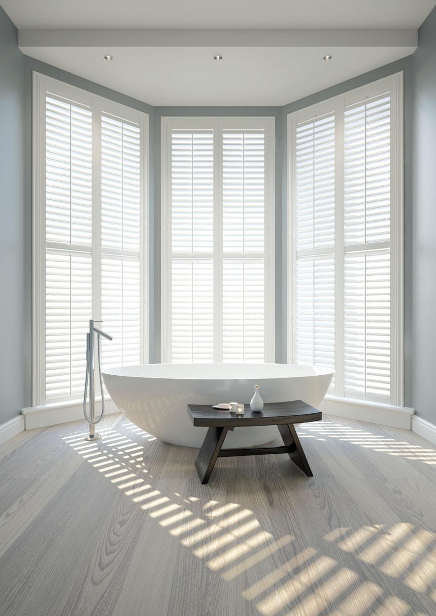 image of interior window shutters for Shuttertec, shutter suppliers in Essex