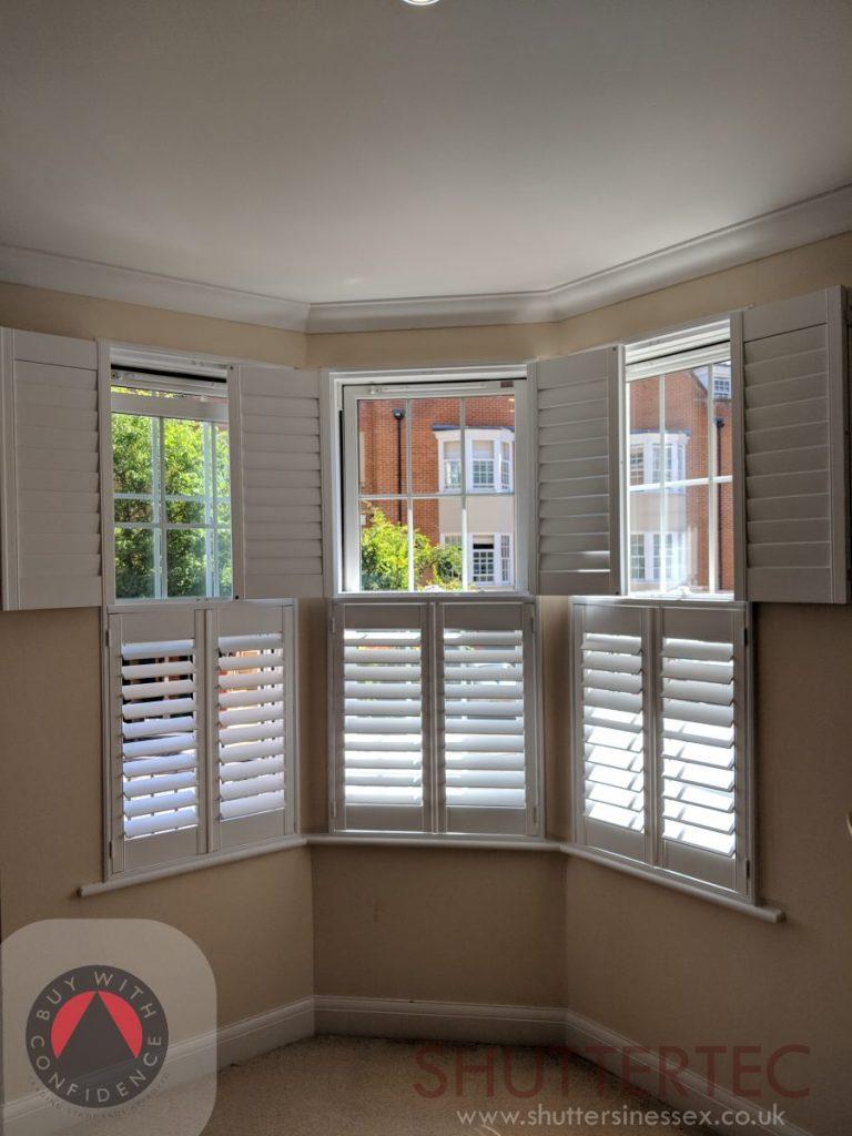 tier on tier shutters on bay window