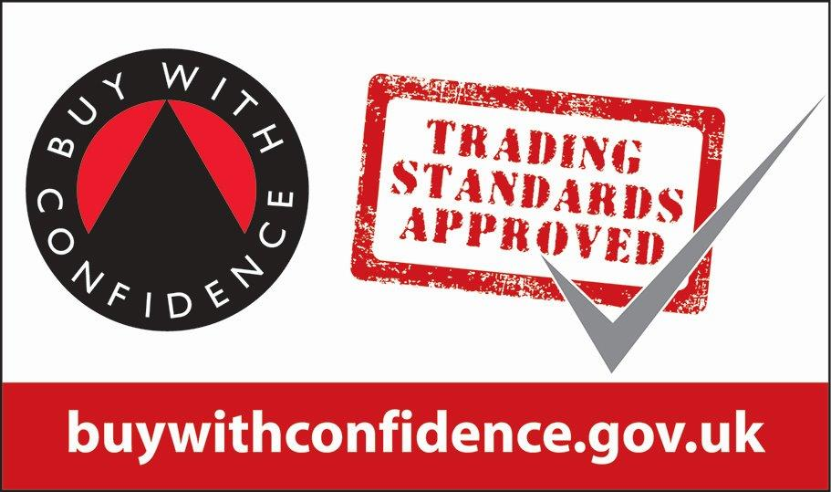 Buy With Confidence logo for Shutter Tec, window shutter suppliers in Essex